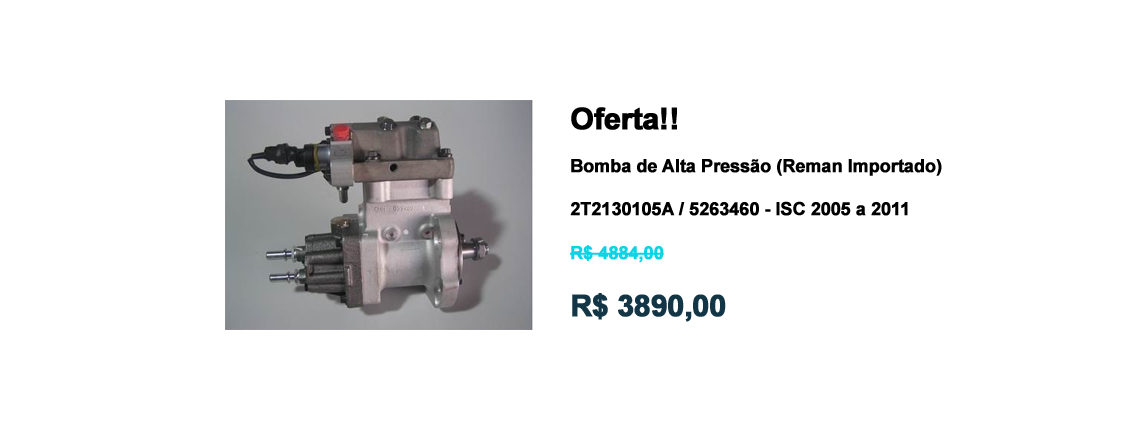 OFERTA BOMBA DE ALTA PRESSAO